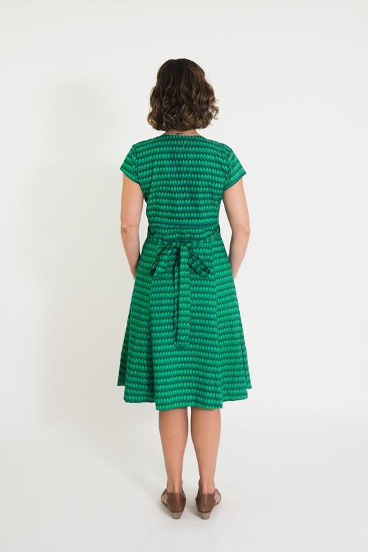 Wrap Dress - Green Drop