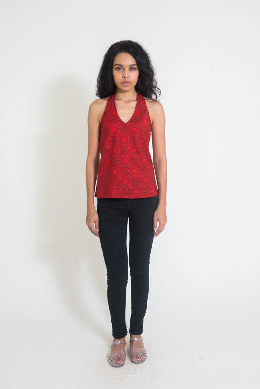 Panelop Top - Red Flower Lingam