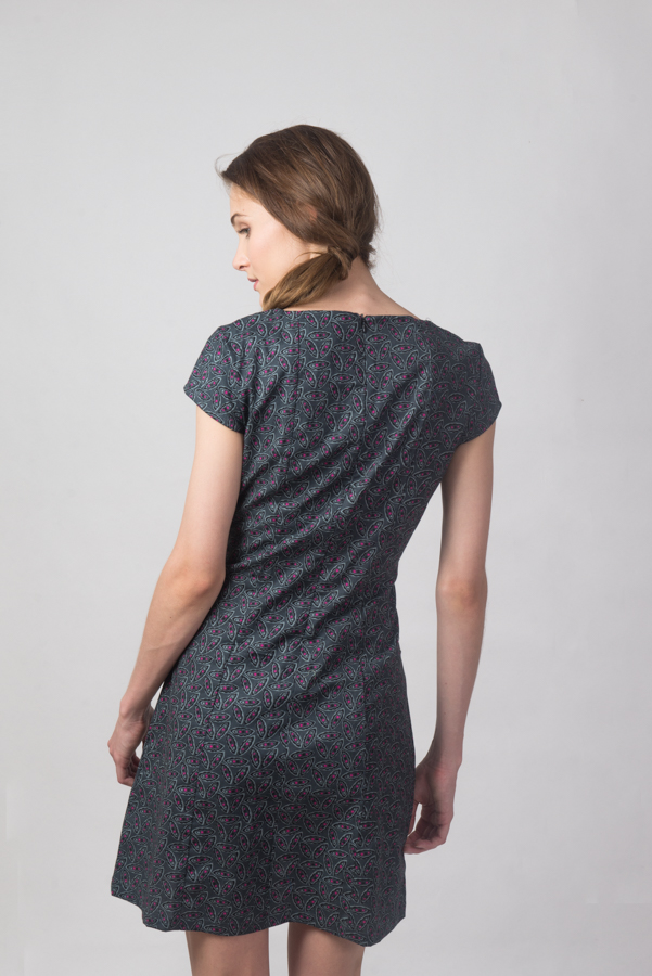 Addison Dress - Pea Grey