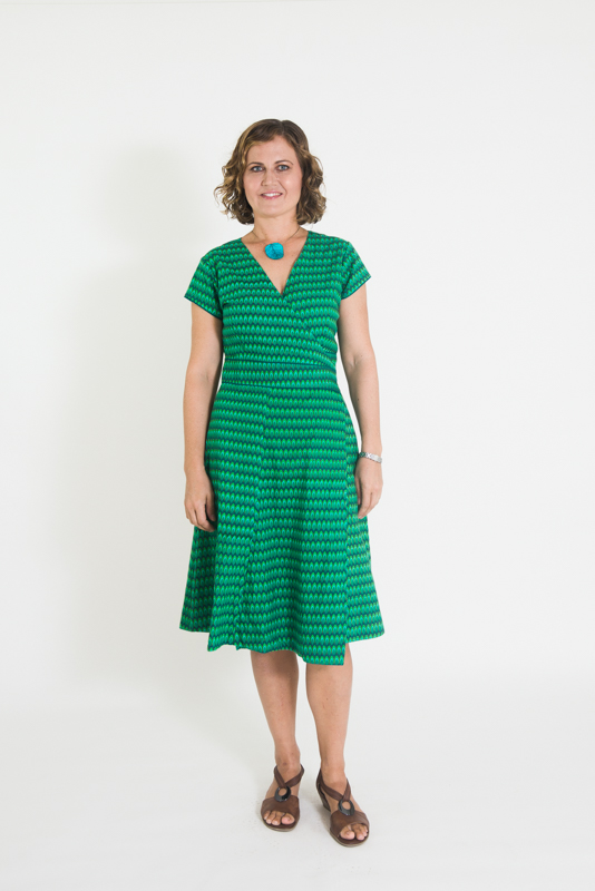 Wrap Dress - Green Drop