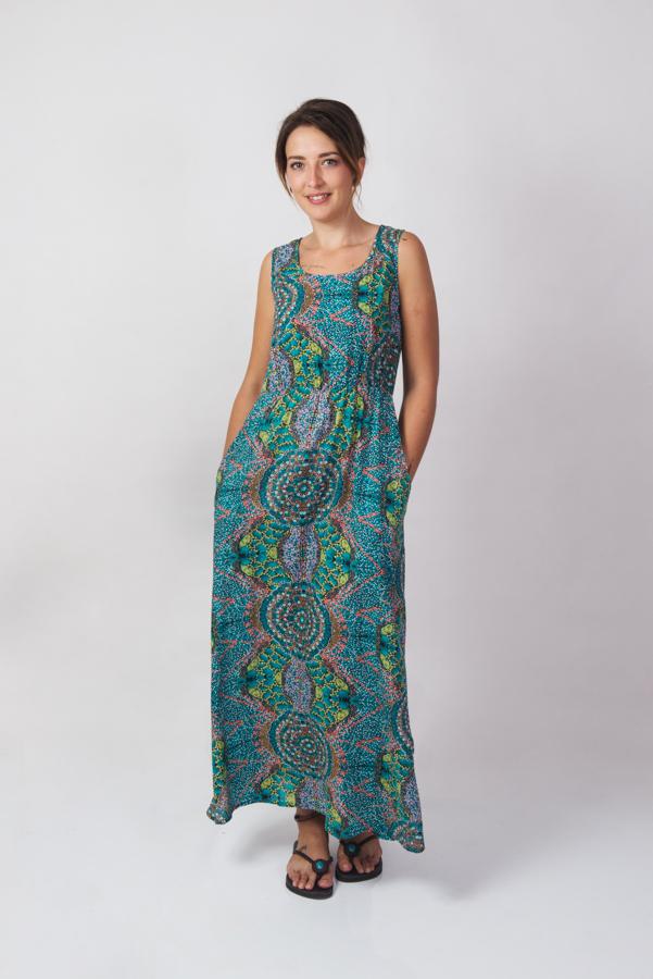 Suzie Maxi Dress - Blue Flower