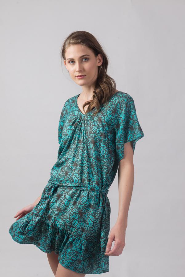 Vicki Dress - Fiori Blue