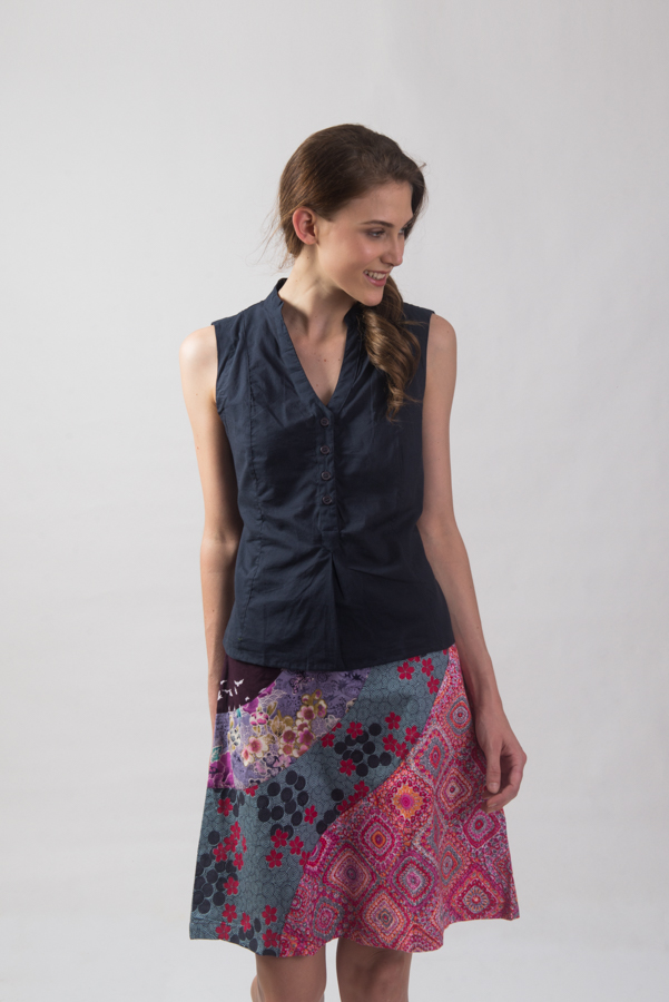 Wave Patch Skirt - Pink
