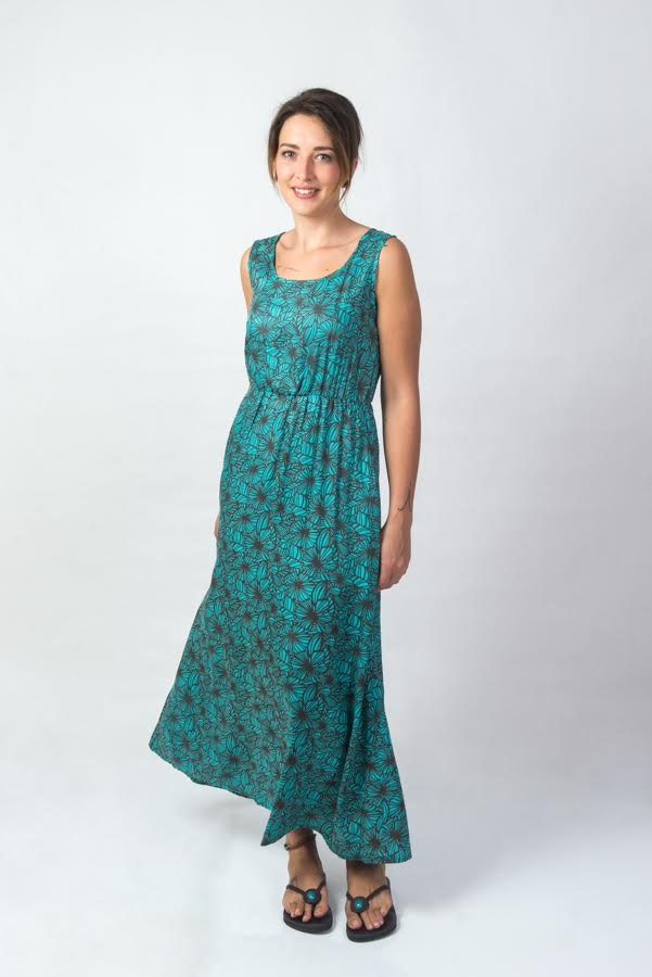 Suzie Maxi Dress - Fiori Blue