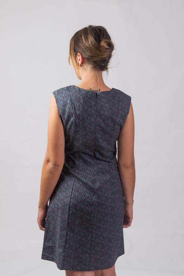 Patti Dress - Pea Grey