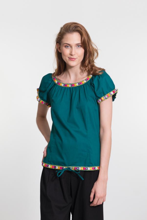 Masala Top - Dark Turquoise
