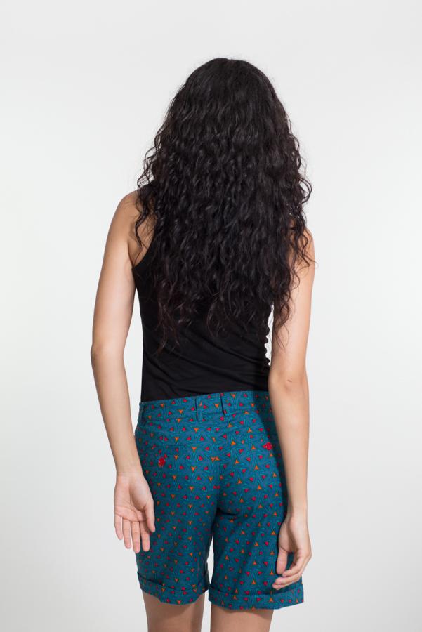 Laleeta Shorts Long - Triangle Blue
