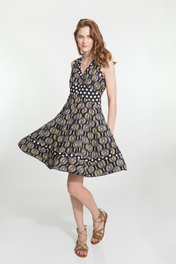 Lil Dress Short - Pineapple Black