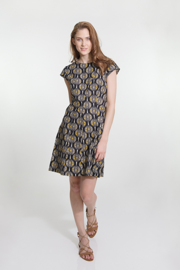 Addison Dress - Pineapple Black