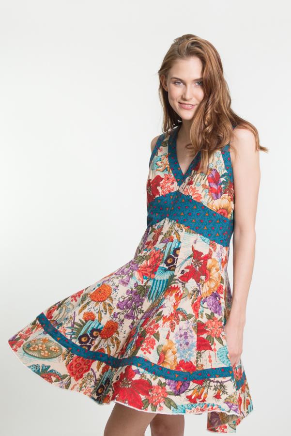 Lil Dress Short - Mimi San Bird Print 1