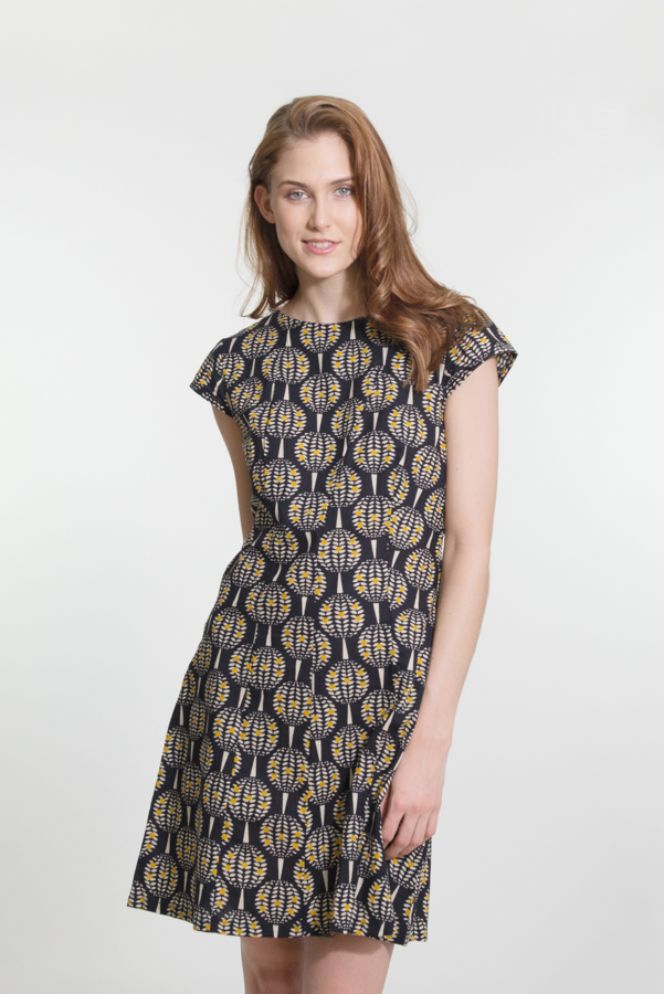 Addison Dress - Pineapple Black