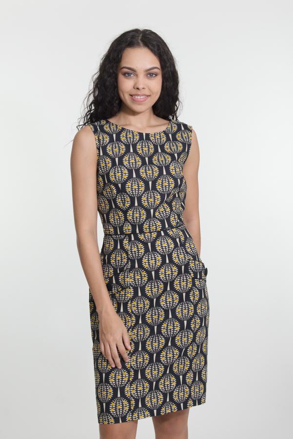 Sydney Dress - Pineapple Black