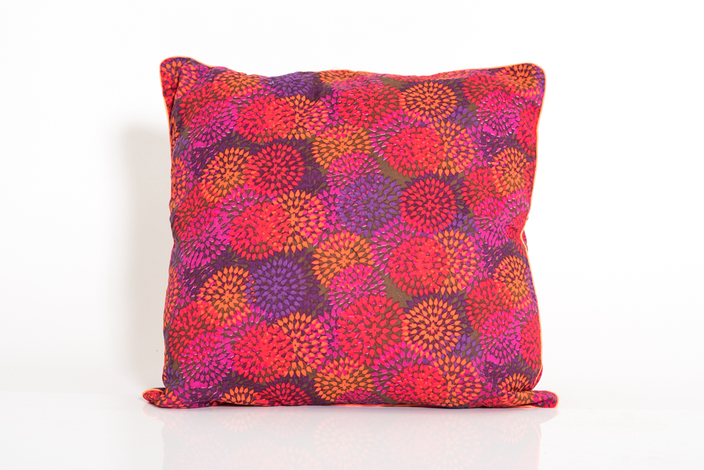 Cushion Cover - Pink Fancy Flower