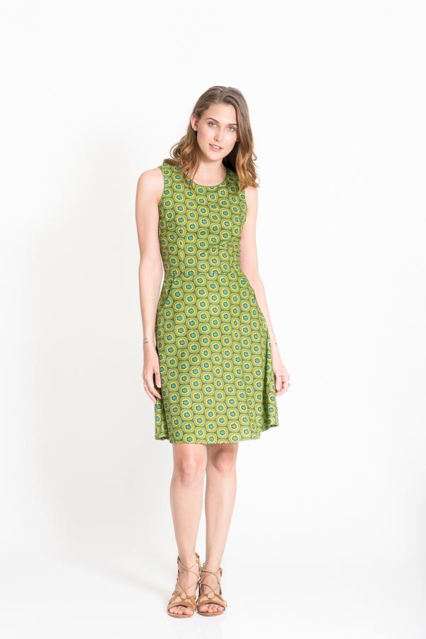 Lisa Dress - Kiwi Green