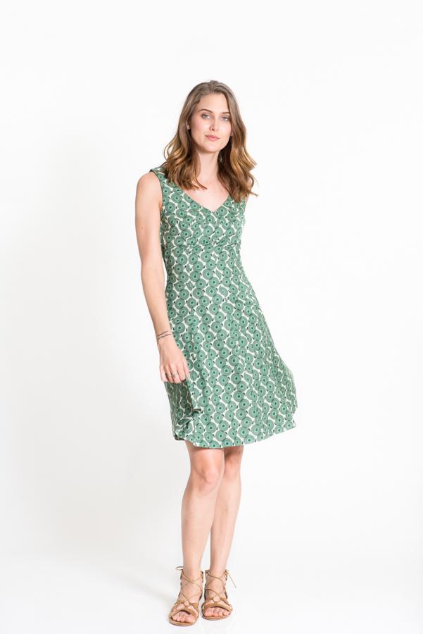 Sabrina Dress - Angel Green
