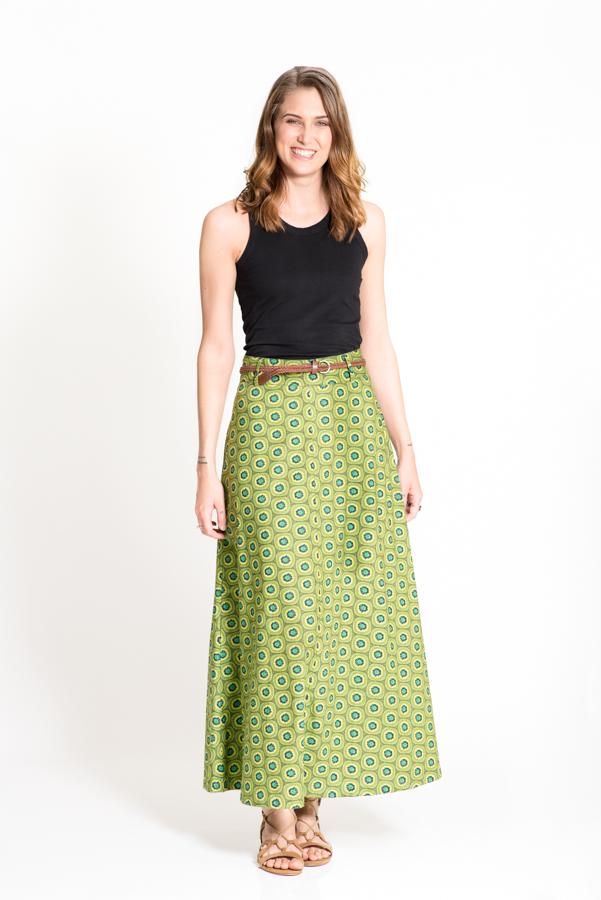 Sita Maxi Skirt - Kiwi Green