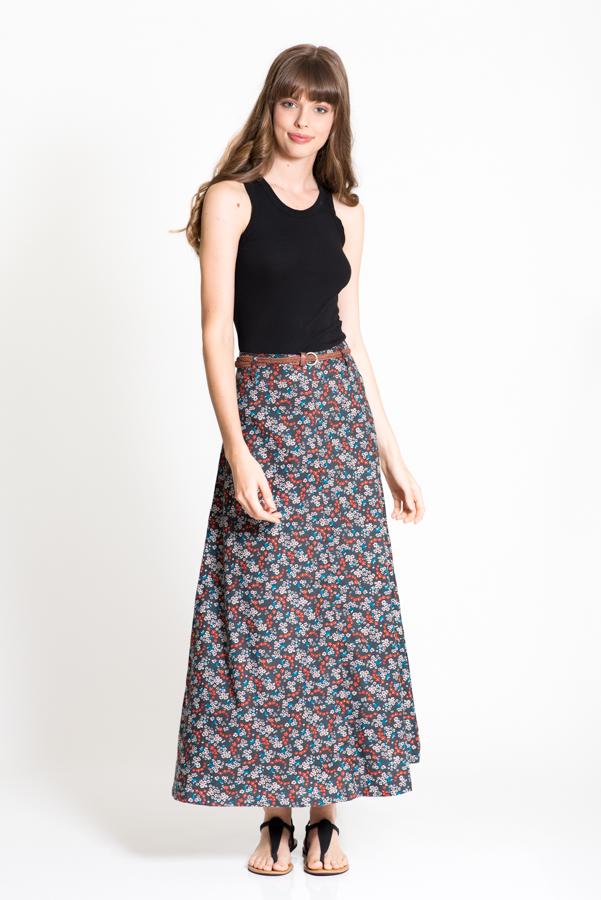 Sita Maxi Skirt - Field Grey