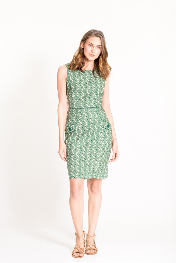 Sydney Dress - Angel Green