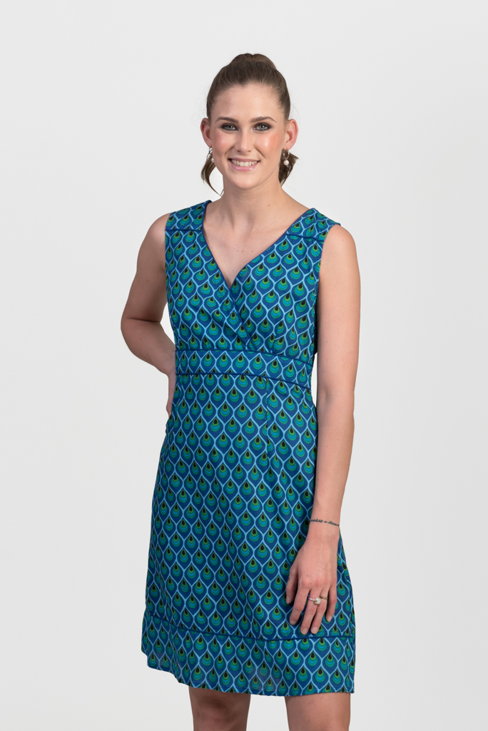 Charly Dress - Peacock Blue