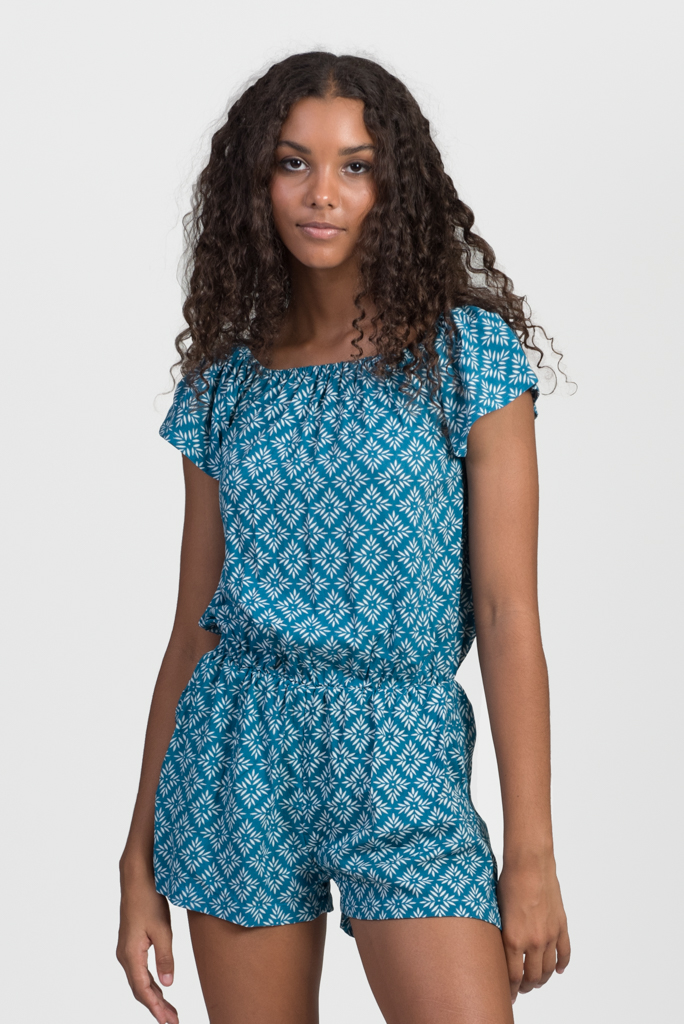Combi Chic Jump Suit - Turquoise Crystal