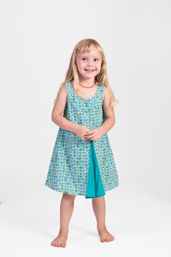 Kid's Magic Dress - Green Criss Cross