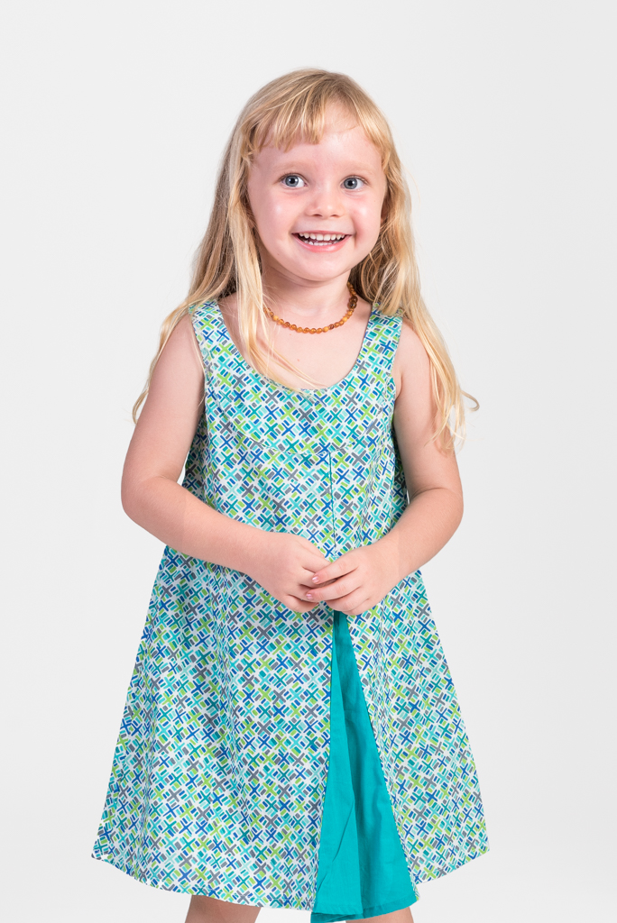 Kid's Magic Dress - Green Criss Cross