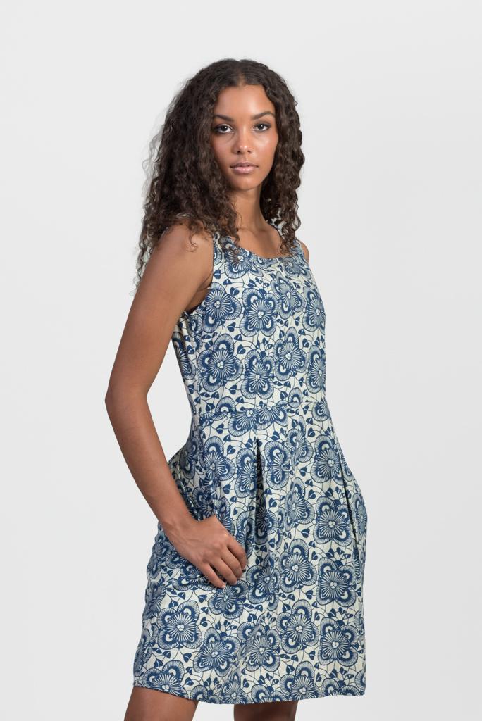 Manhattan Dress - Blue Garden