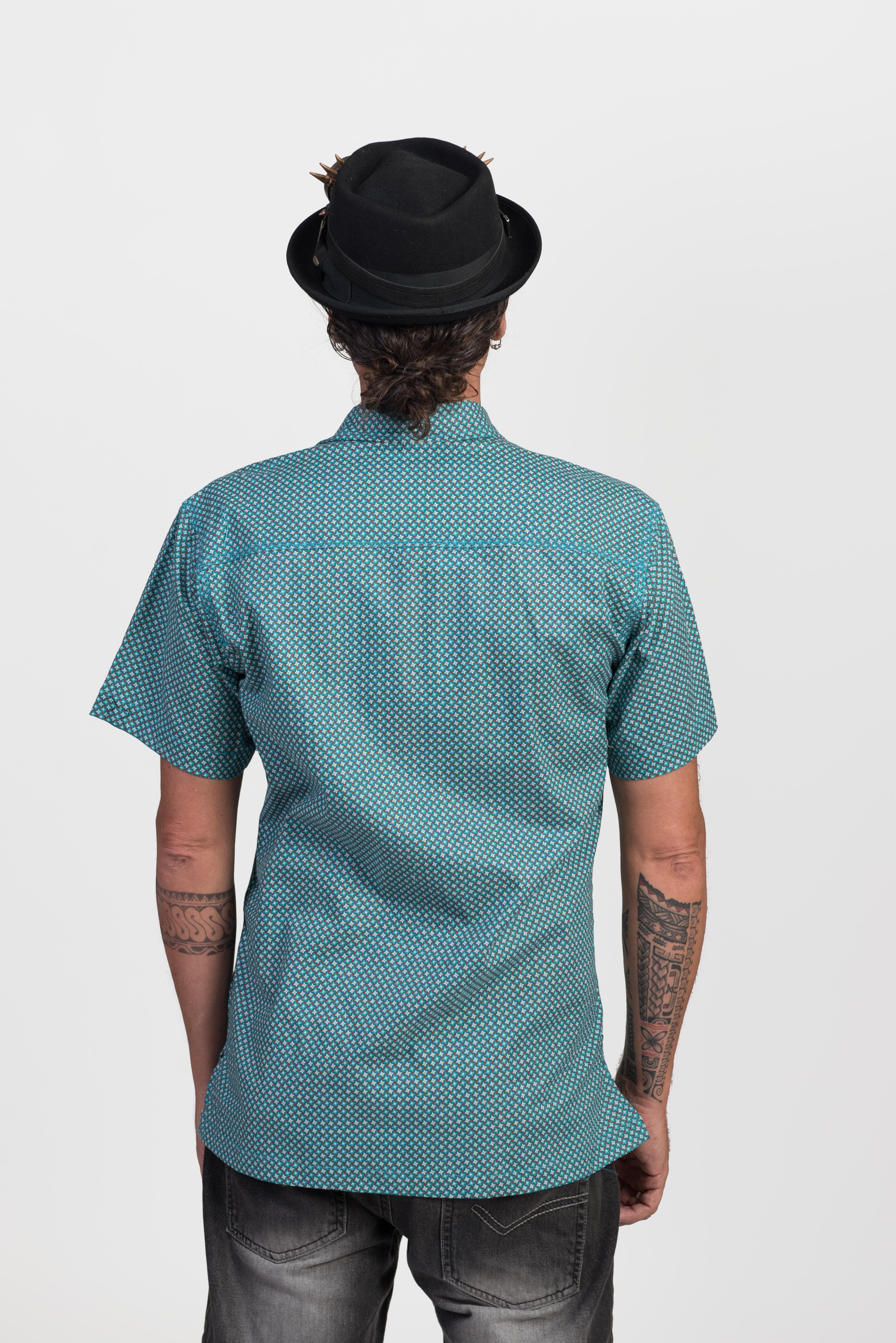 Men's Shirt - Mini Star Blue