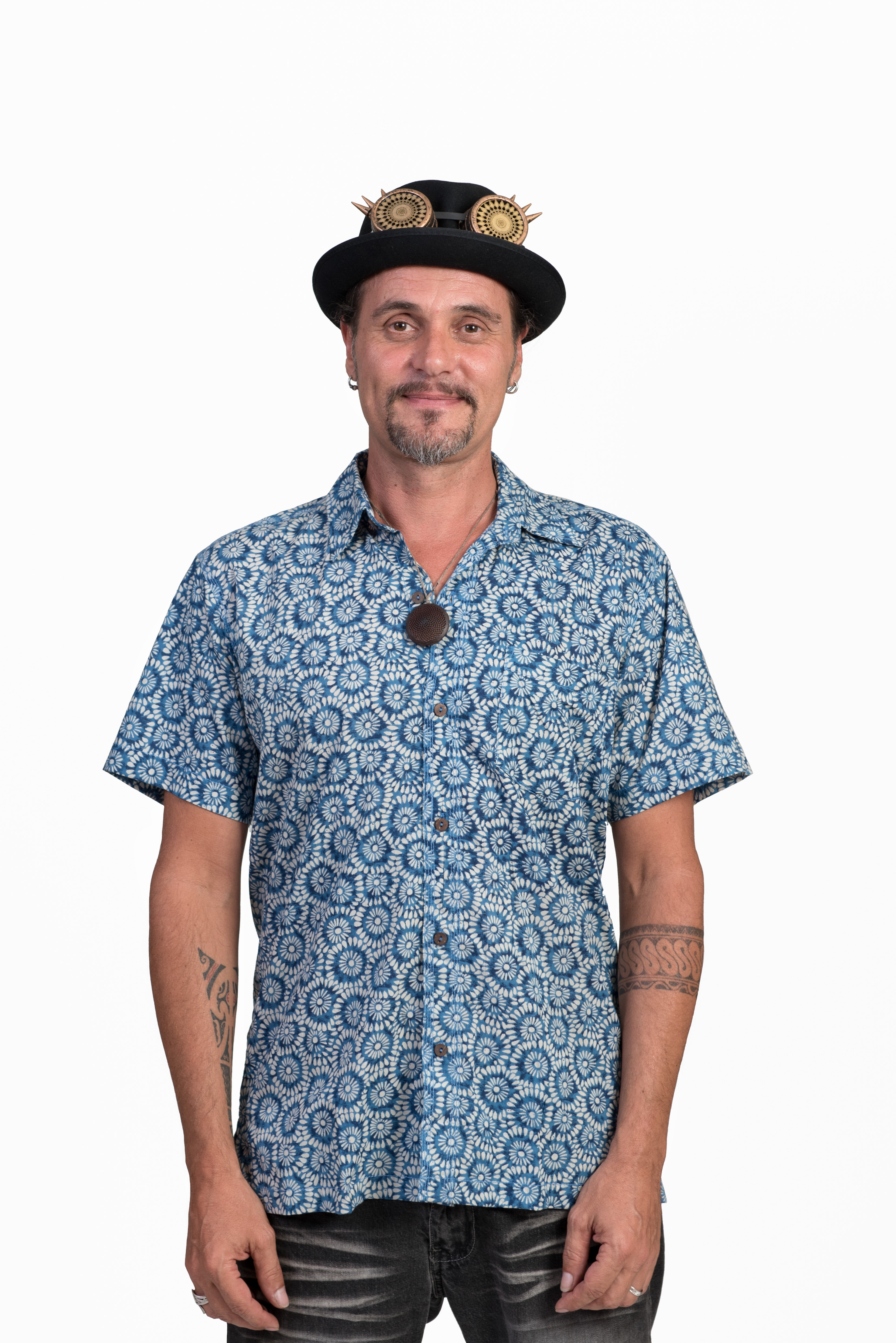 Men's Shirt - Blue Flowers