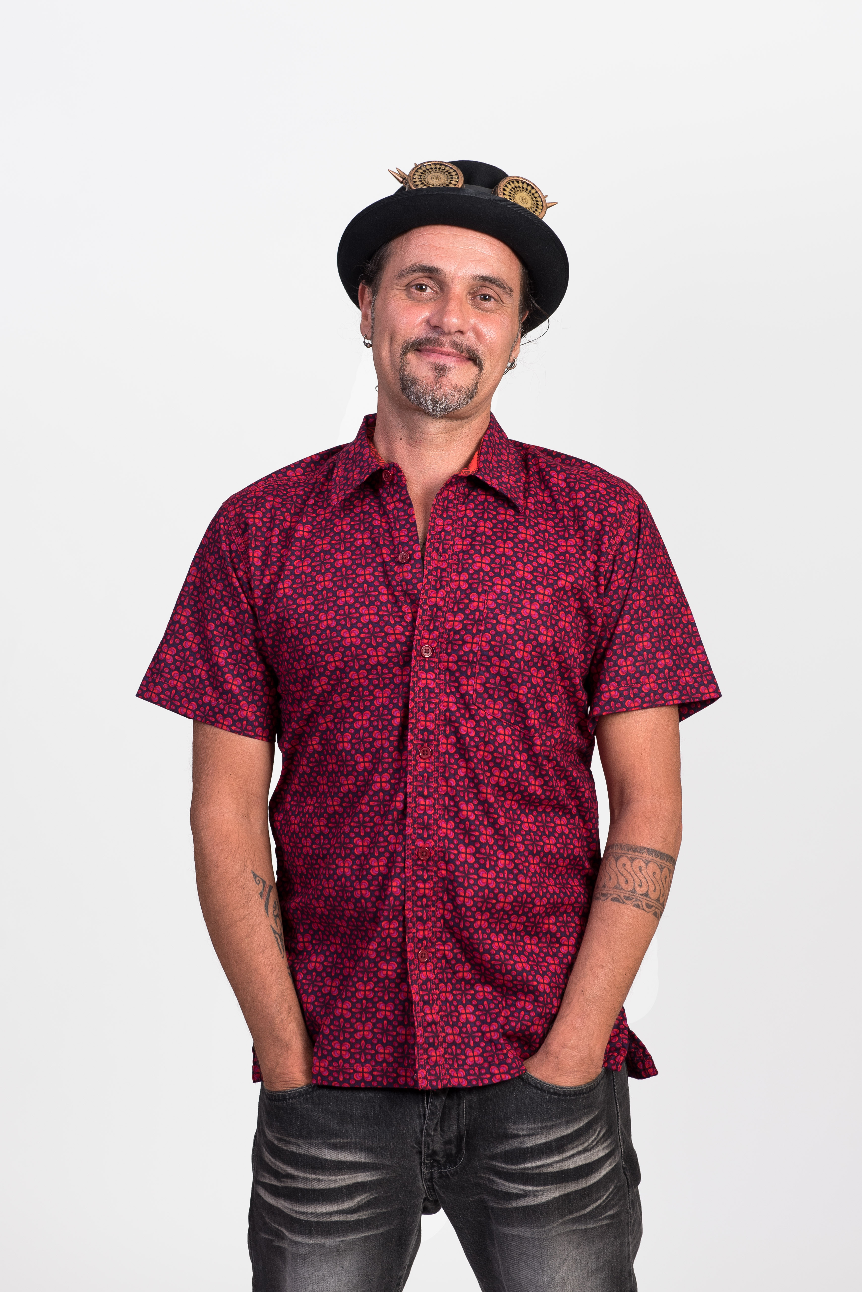 Men's Shirt - Geo Flower Purple