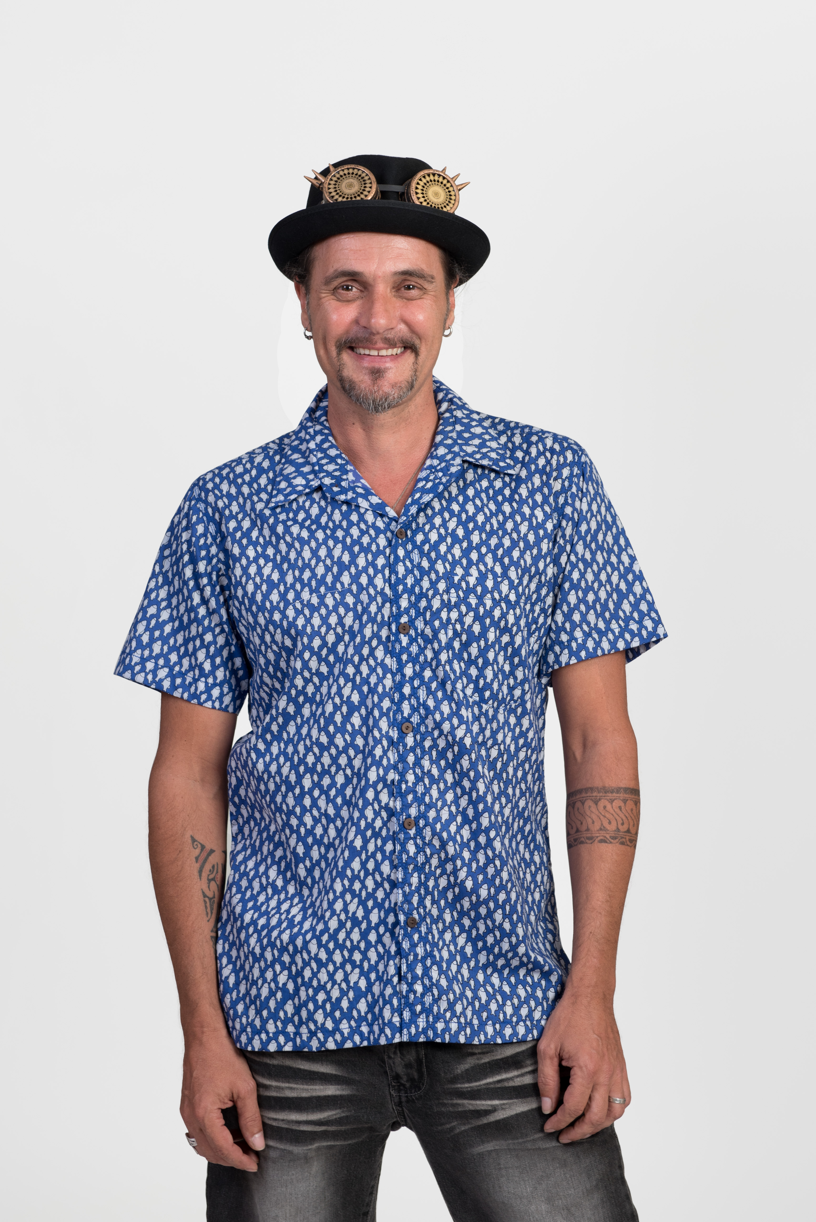 Men's Shirt - Blue Fish