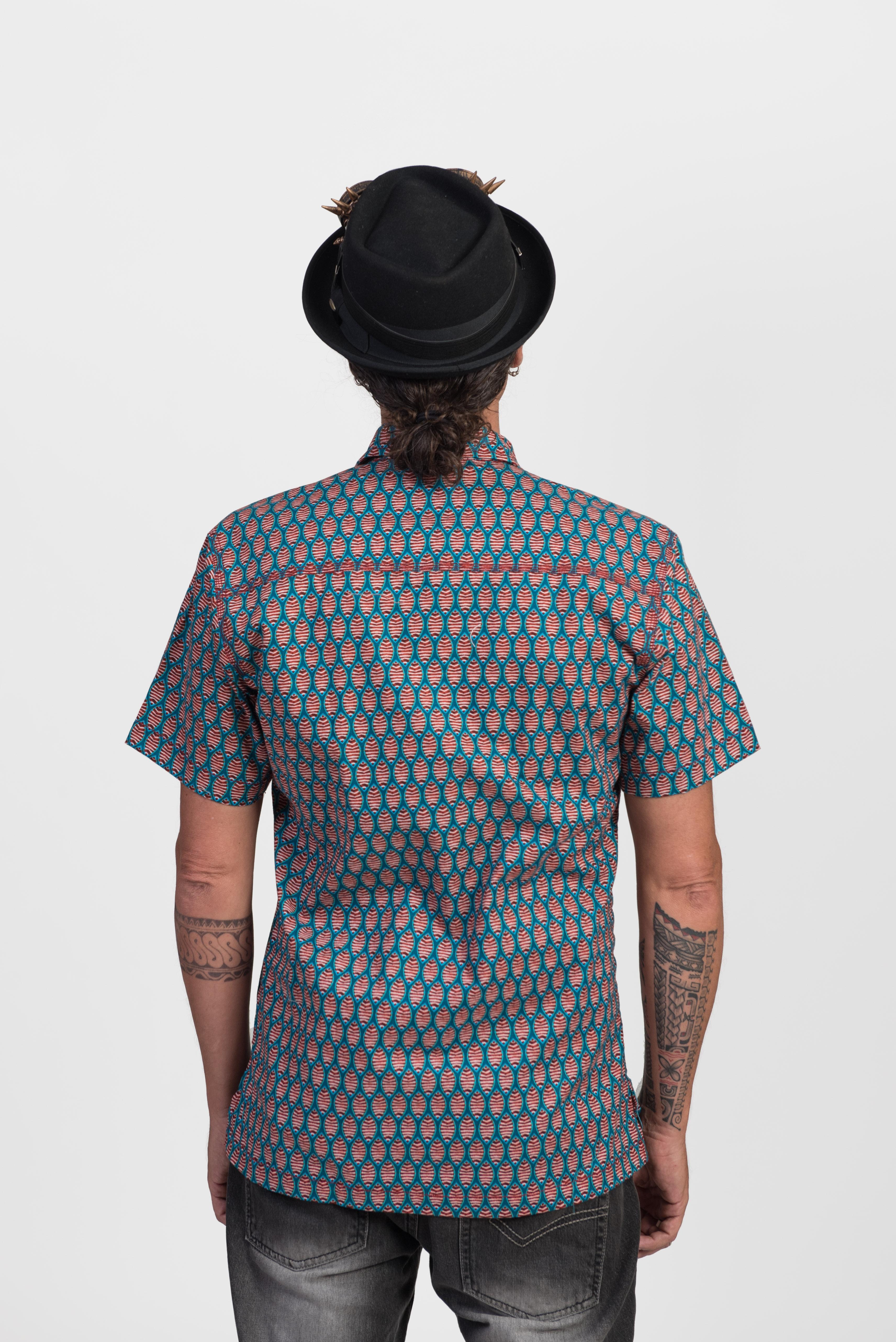 Men's Shirt - Fish Print