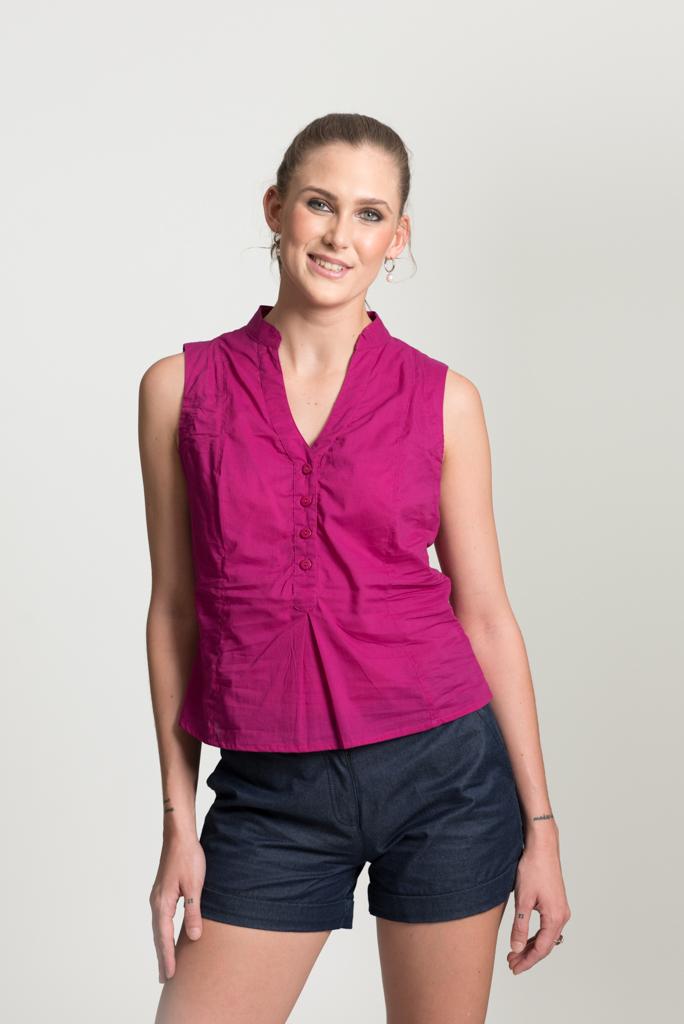 No Sleeve Top - Pink