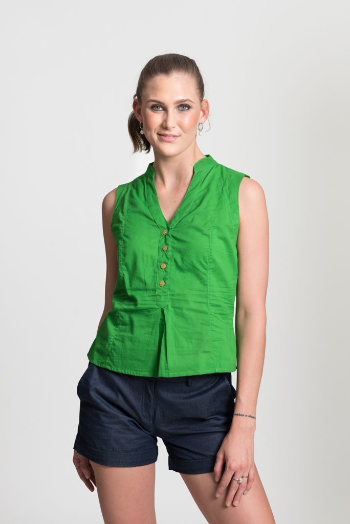 No Sleeve Top - Lime Green