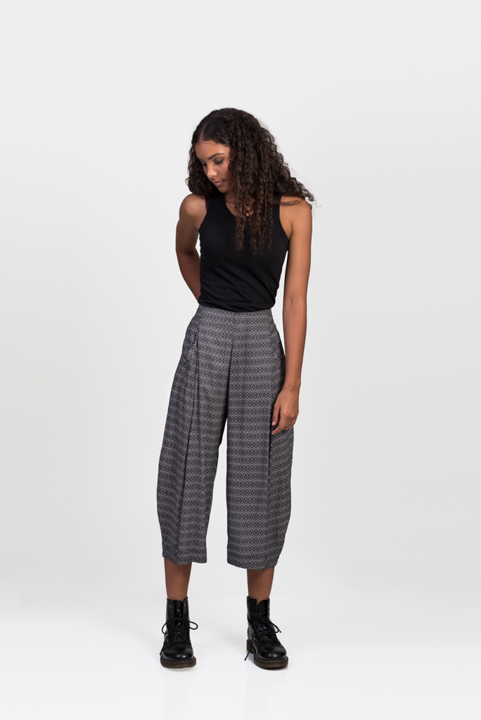 Hendrix Pants - Black / White Triangle