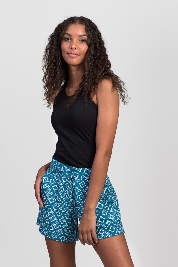 Alexi Shorts - Turquoise Crystal