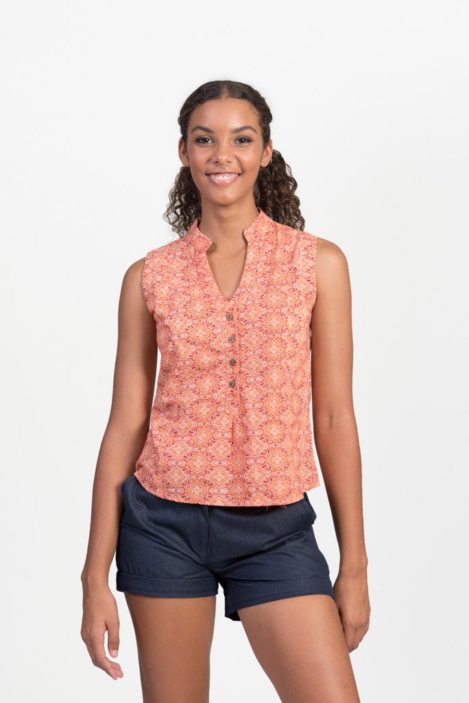 Zoe Top - Orange Mosaic