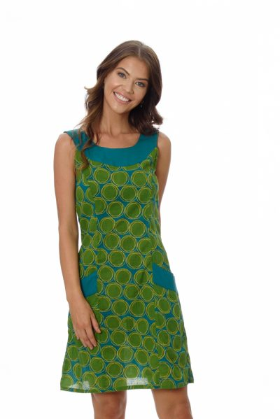 KOFFIE WOMENS DRESS – GREEN SUN