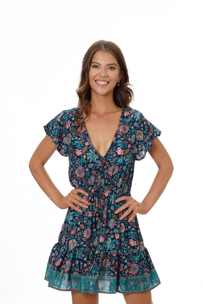 LAURE WOMENS DRESS – NAVY