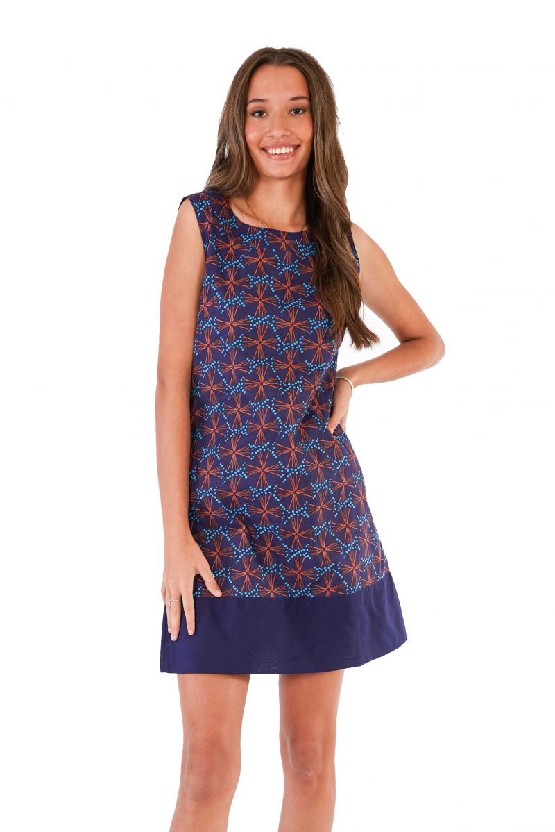womens Millie Dress - Fireworks Blue