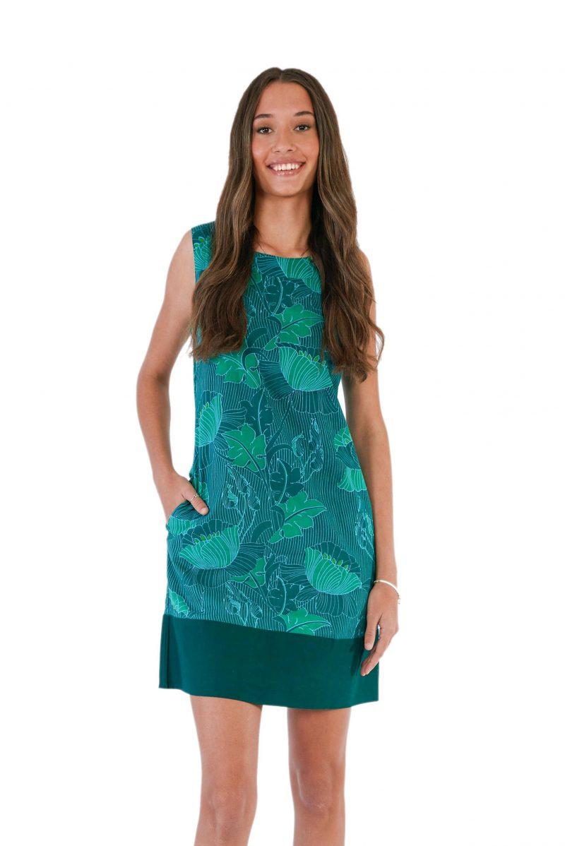 womens Millie Dress - Lotus Green