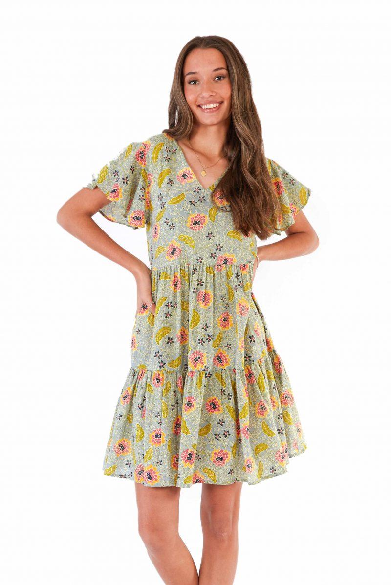 womens Ava Dress - Bali Denim