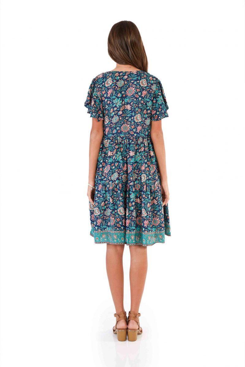 womens Ava Dress - Navy back