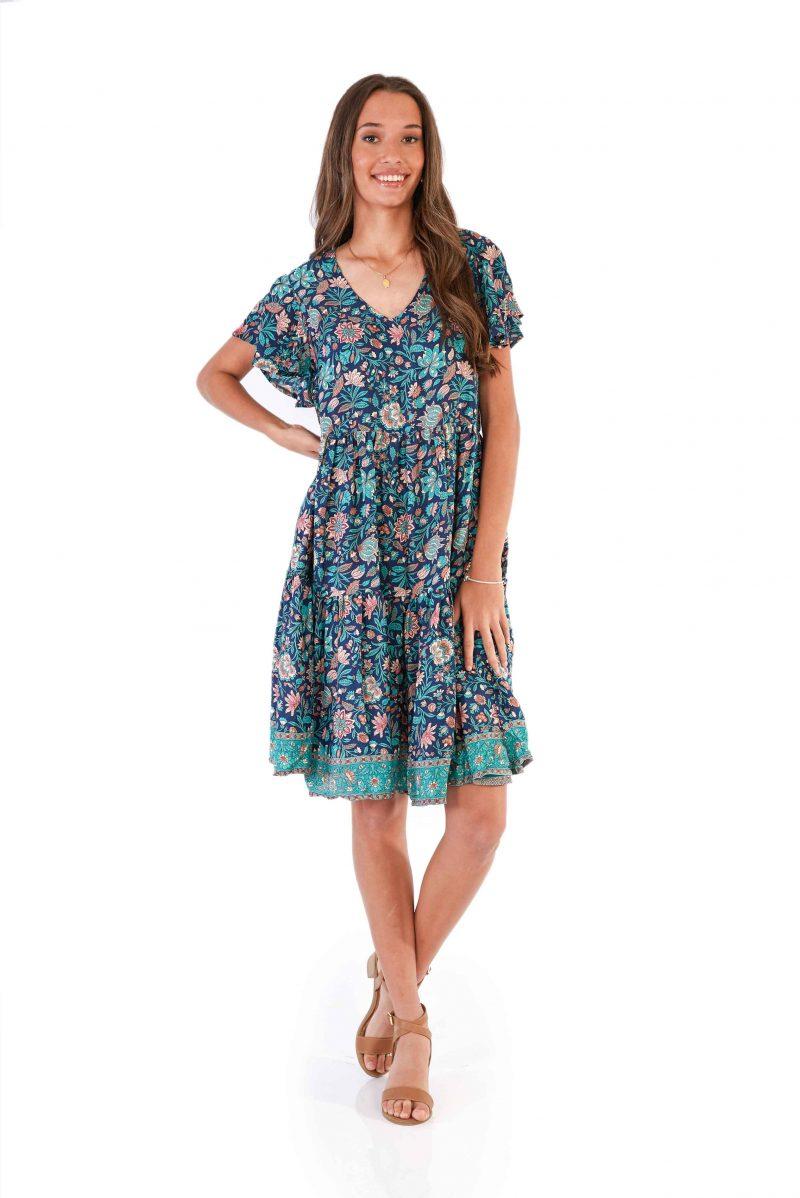 womens Ava Dress - Navy front