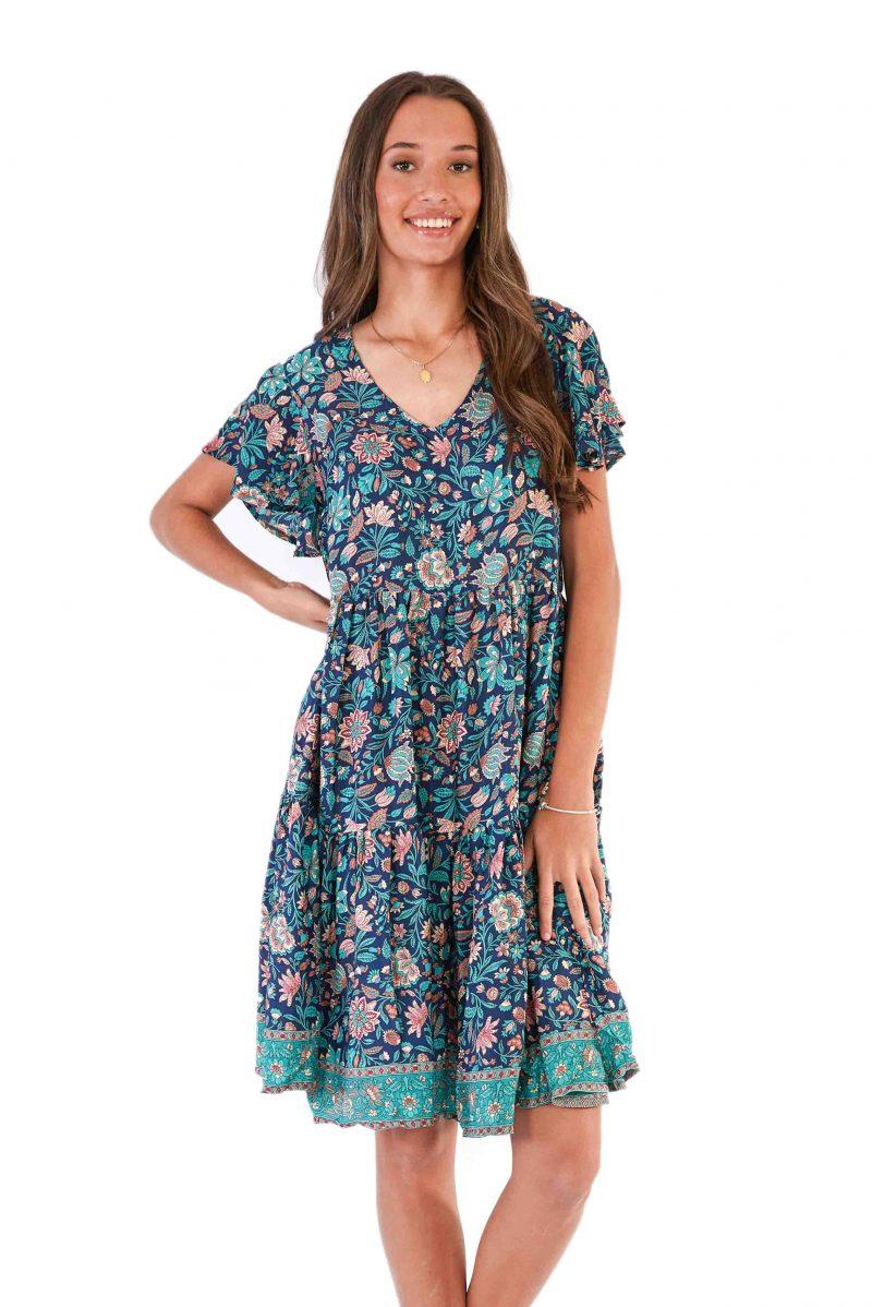 womens Ava Dress - Navy