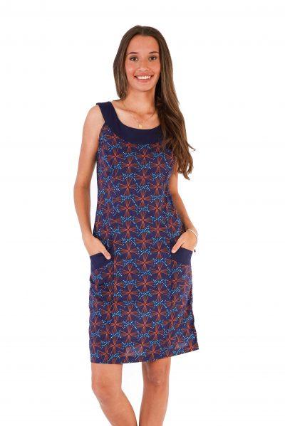 womens Koffie Dress - Fireworks Blue