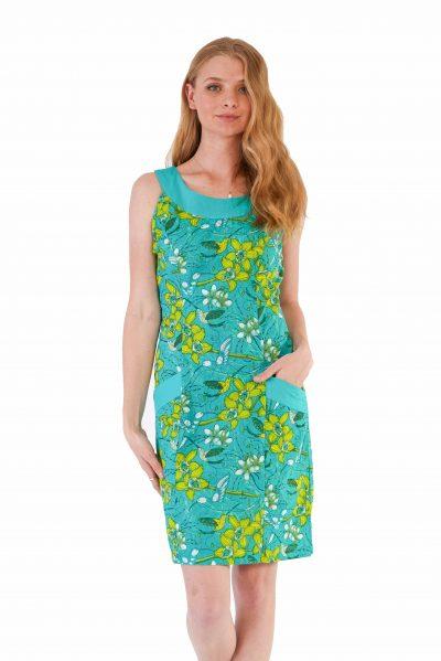 womens Koffie Dress - Morning Bloom Green