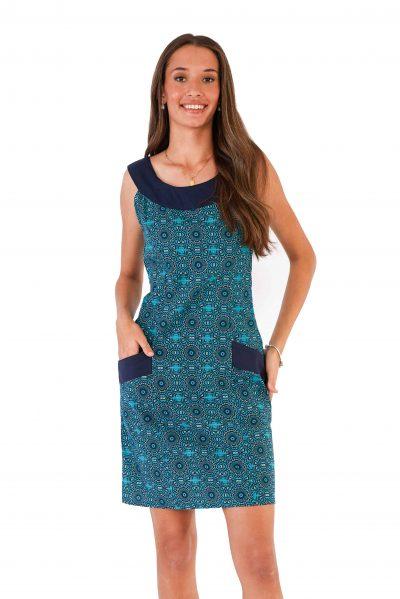 womens Koffie Dress - Aztec Blue