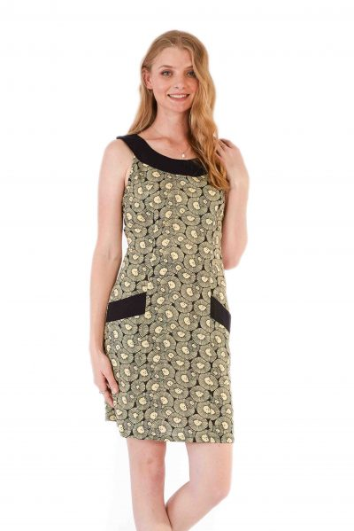 womens Koffie Dress - Chrysanthemum