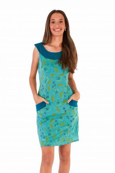 womens Koffie Dress - Bali Blue